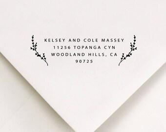 Return To Stamp, Wedding Gift Stamp, Return Addressed, Return Label Stamp, DIY Address Stamp, New Apt Address, Laurels (512)