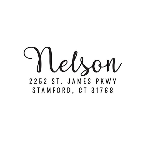 Calligraphy Stamp, Self Inking Stamp, Return Address Stamp, Rubber Address Stamp, Custom Wedding Stamp, Address Stamp (AS110)