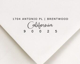 Return Address Stamp, Address Stamp, Custom Address Stamp, Self Inking Stamp, Housewarming Gift, Wedding Stamp, All States Available (901)