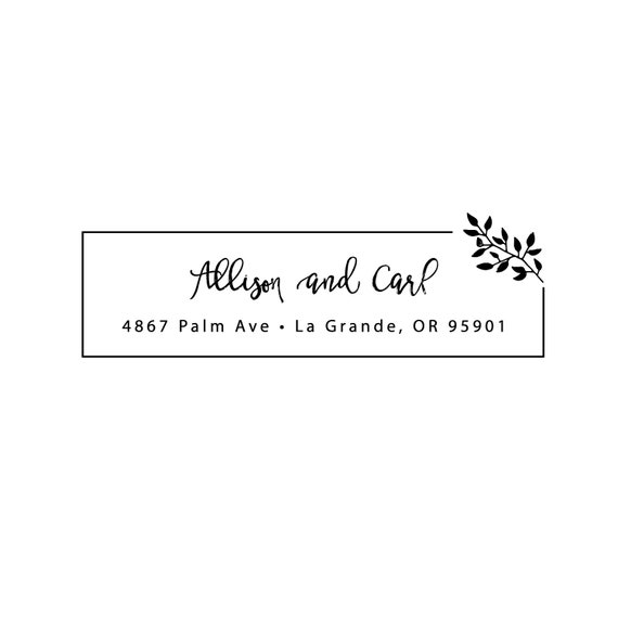 Self Inking Return Address Stamp - Botanical Stamp - Custom Rubber Address Stamp - Housewarming Gifts (AS486)