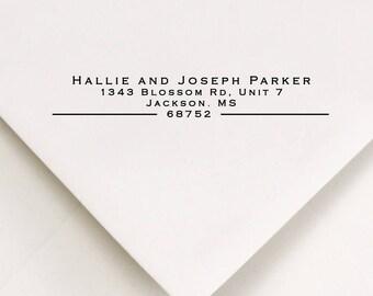 Address Ink Stamp, Self Inking Gift, Return Modern Stamp, Personalized Stamp, Housewarming Return Stamp, Address Stamp For Paper (721)