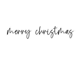 Merry Christmas Rubber Stamp | One Line  (MC159)