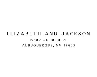 Personalized 3-Line Address Stamp (AS213)