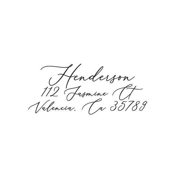 Self Inking Return Address Stamp