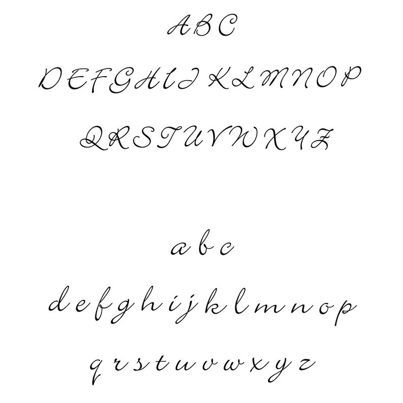 Script Style Name Font Wood Handle or Self Inking Address Stamp Melanie and Carson Return Address Stamp