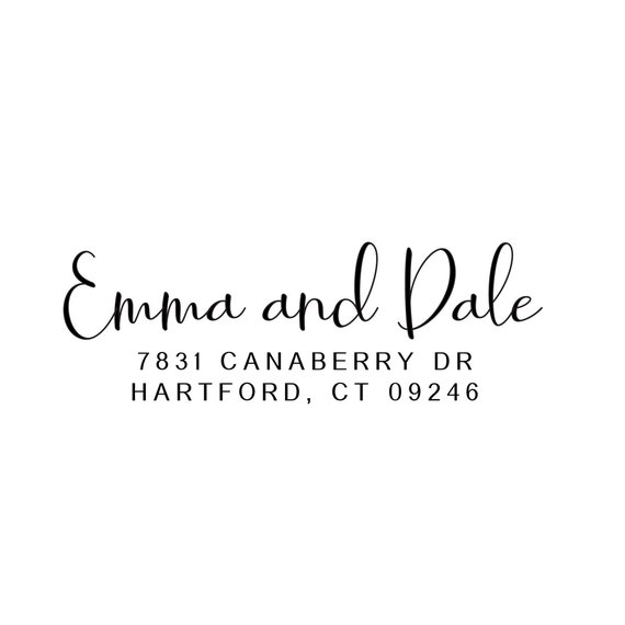 Wood Address Stamp | Self Inking Wedding Stamp  | Custom Return Stamp | Gift From Sister Of Bride (908)