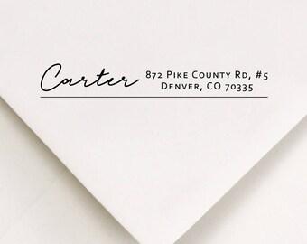 Address Stamp For Envelopes - Addressing Gift Stamp - Return Label Stamp - Address Invitation Stamp - Personalized Stamped Address  (440)
