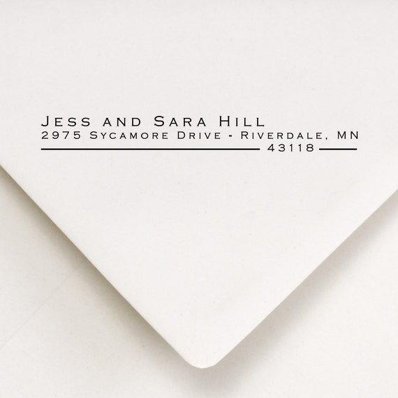Return Address Stamp - Custom Address Stamp - Personalized Stamp - Self Inking Stamp - Wedding Stamp - Gift - Jess and Sara Design (607)