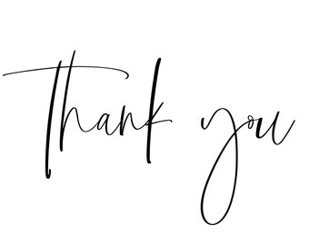 Simple Thank You Stamp | Modern Script | For Tags Stickers Cards (TY237)