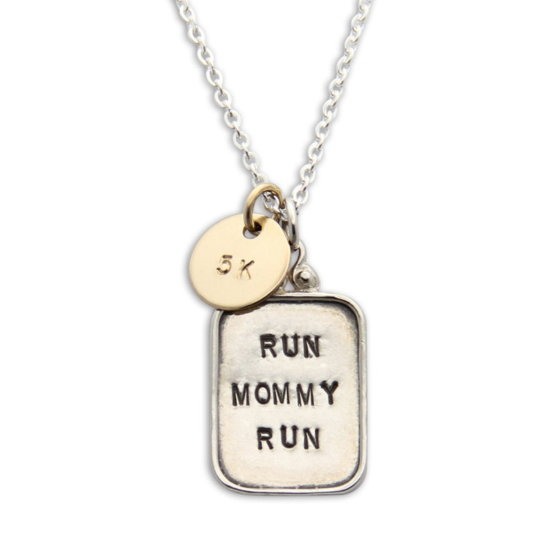 Mothers Necklace custom run mommy run necklace. Gifts for image 0