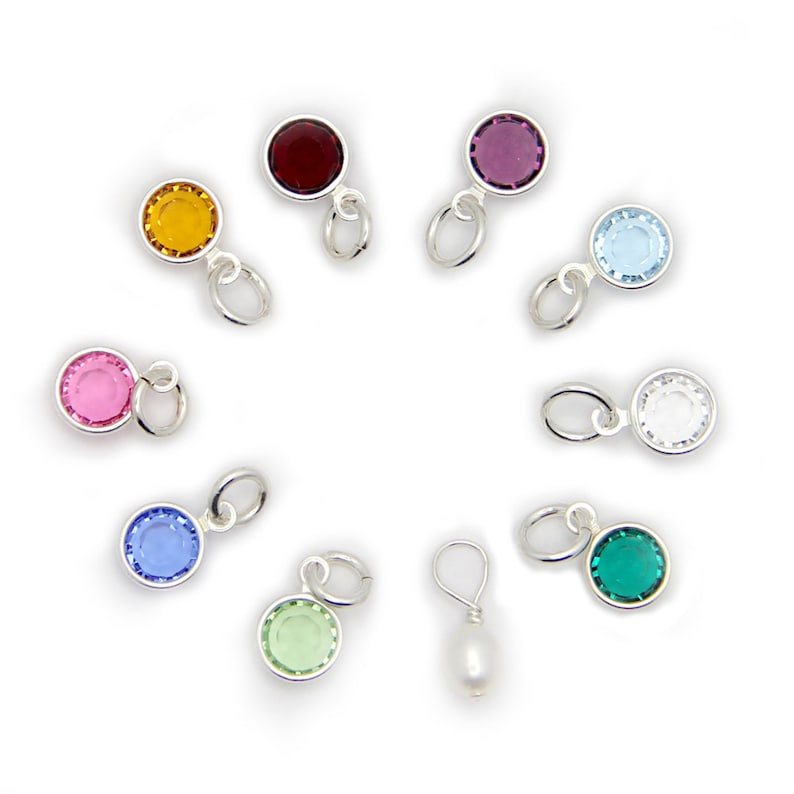 Birthstone Crystals  Swarovski Elements.  Add On Charms. image 0