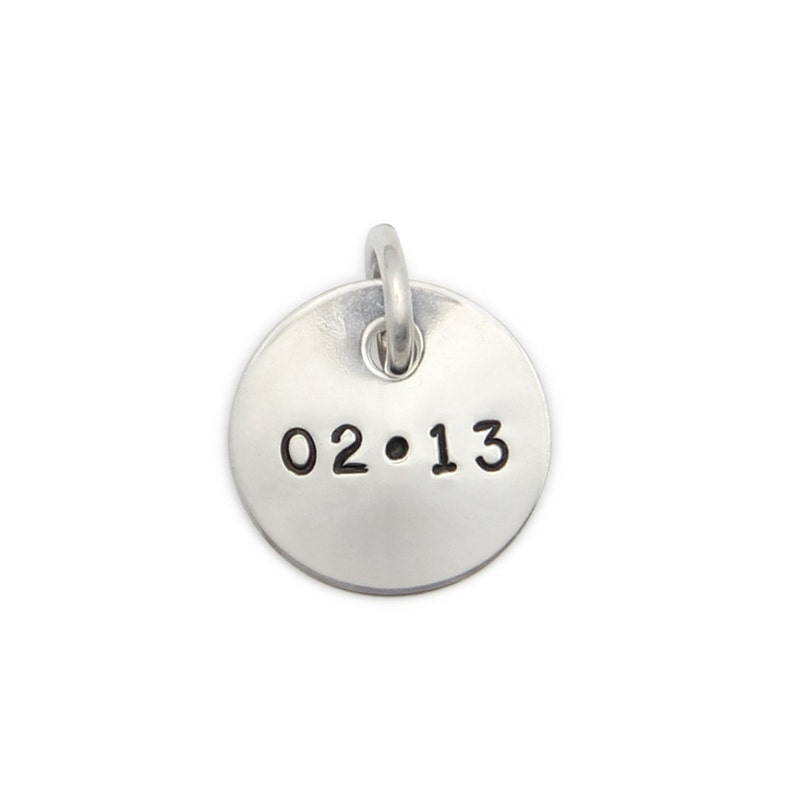 Custom Pendant sterling silver 1/2 inch pendant. Name image 0
