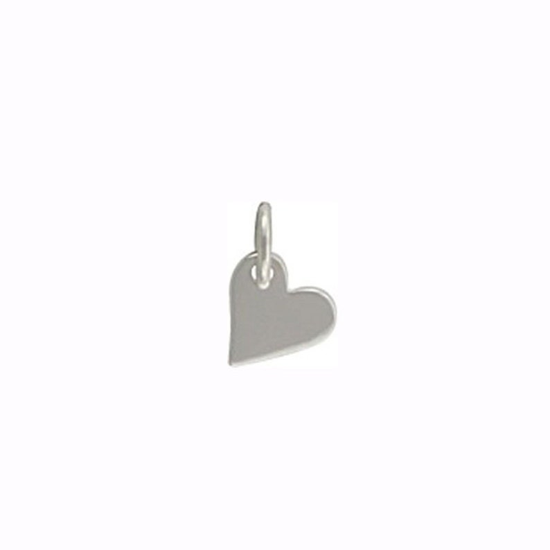 Tiny Silver Heart Charm Sterling Silver Heart image 0