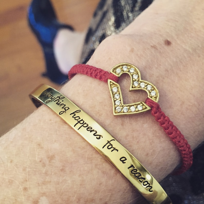 Inspirational Bracelet. Everything Happens For A Reason. image 0