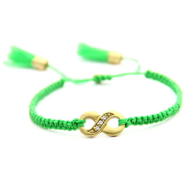 PACK of 3 bracelets WHOLESALE.  Infinity Bracelet macrame image 0