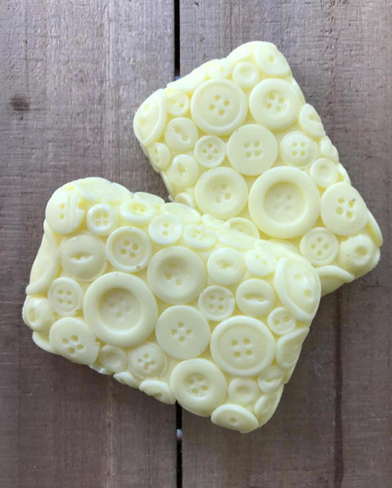 Lemon Sugar Button Soap image 0
