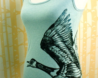 Canada Goose racerback tank in 100% recycled poly/cotton, choose your size and color, made in USA