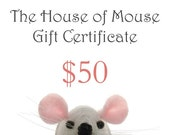 Gift Certificate 50USD