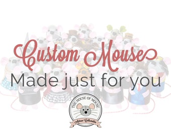 Custom Artisan Mouse made just for you - fill out form in item details - personalised adorable art mouse artist rat hamster gift present