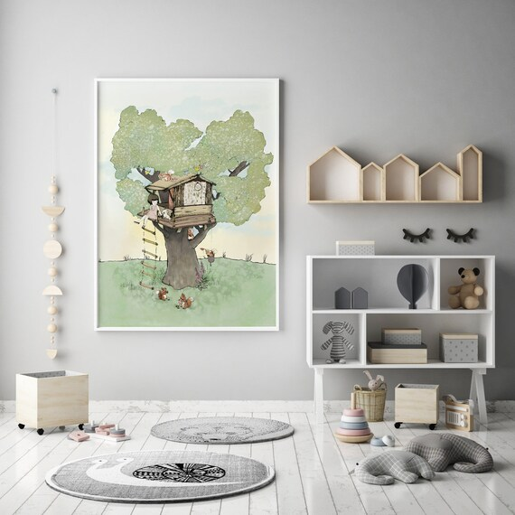 Holli Baumhaus Wald-Kinderzimmer | Etsy