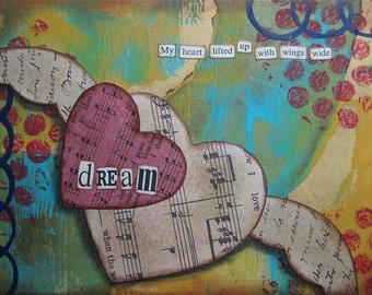 dream - 5 x 7 ORIGINAL COLLAGE by Nancy Lefko