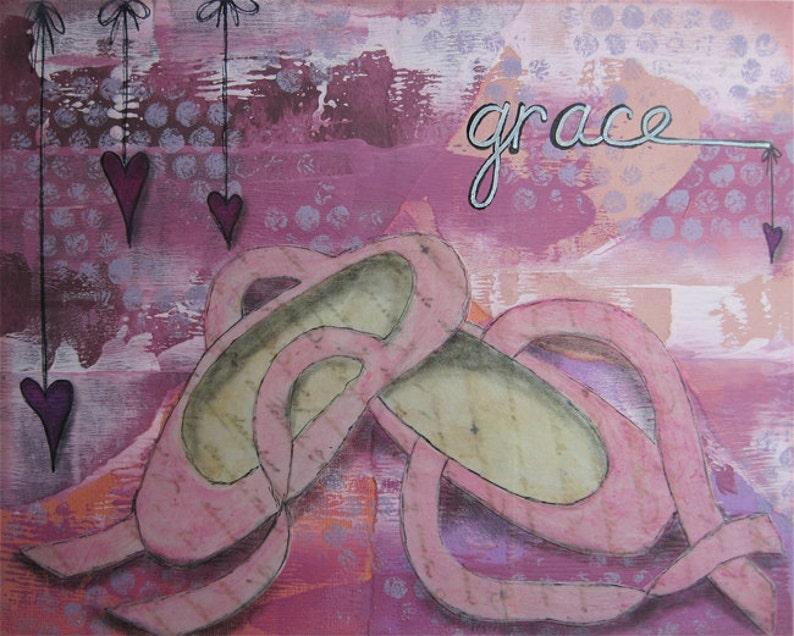 grace  8 x 10 ORIGINAL COLLAGE by Nancy Lefko image 0