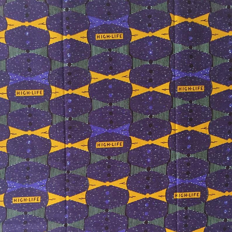 African fabric, Highlife Ankara, Classic African Print, Yardage, Purple  fabric, Dressmaking Fabric, 100% Cotton, Made in Ghana, Purple