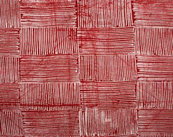 Red and White Batik, Red African Fabric, Red and White Fabric, Handmade Batik Fabric, Nigerian Adire, 4.8 yard Bundle, African Fabric