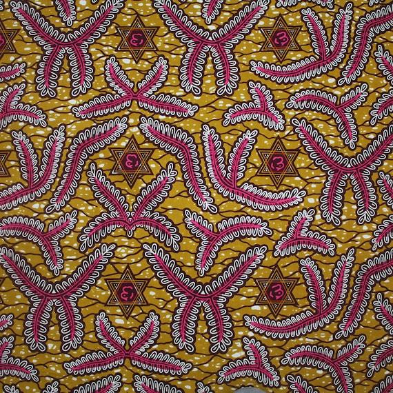 Wax  African Print Fabric Ankara Cotton Fabric 5.5 Yards