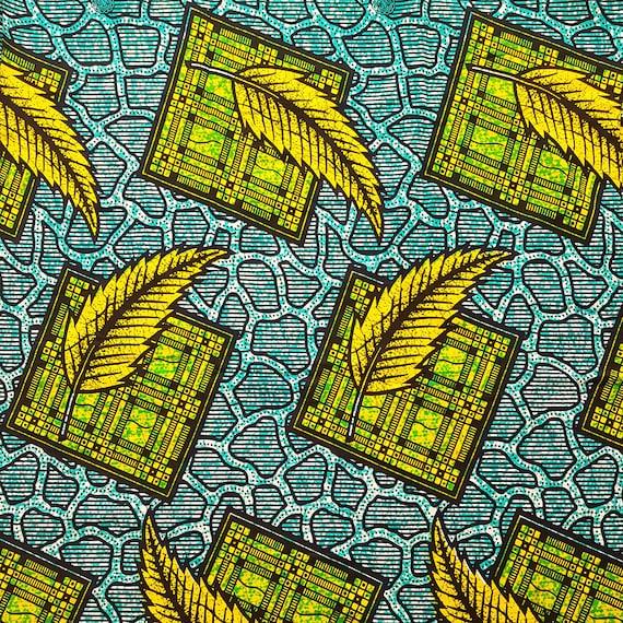 Exclusive African Wax  Print Fabric Ankara 5.5yards
