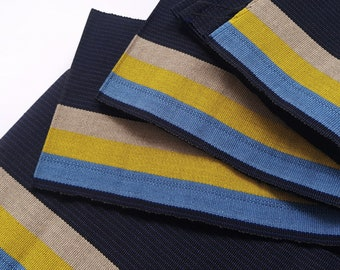 Blue and Yellow Aso oke, Woven Strip Fabric, Handwoven fabric, Modern Aso Oke Fabric Bundle