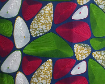Blue African fabric, Blue Ankara, Pebble Print, Sold by the yard, Blue Fabric, 100% Cotton, Modern African print fabric