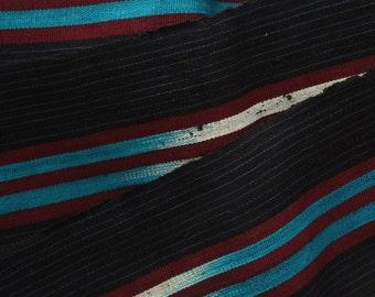 Aso-oke, Woven Fabric, Strip Fabric, Blue and Maroon Aso-oke, Handwoven fabric, Modern Aso Oke Fabric, Sold by the Metre, Etu Aso Oke