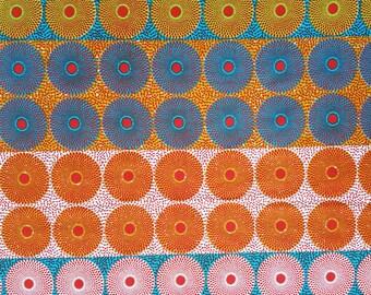 Mini Circles African Print, 6 Yards, Colourful Circle Print Fabric, Bold African Print, 100% cotton