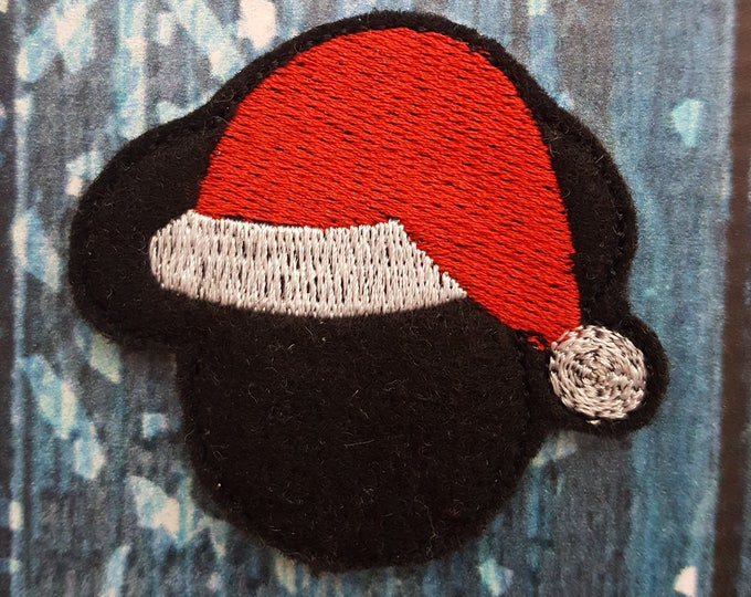 Christmas Felties Santa Hat Feltie, UNCUT FELTIE Felt Embellishments * Felt Applique * Hair Bow Supplies * Mouse Feltie