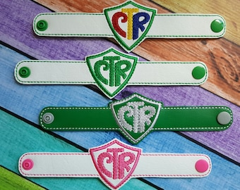 Choose The Right Bracelet * CTR * LDS Themed * Baptism * Gift * Special Occasion * Wristband