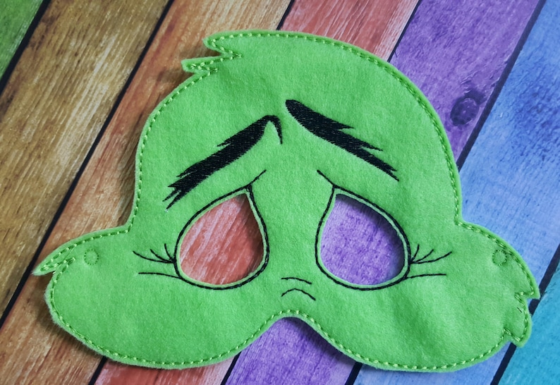 Halloween Playtime School Plays Birthday Parties Dress Up Party Favors Mean One Felt Mask