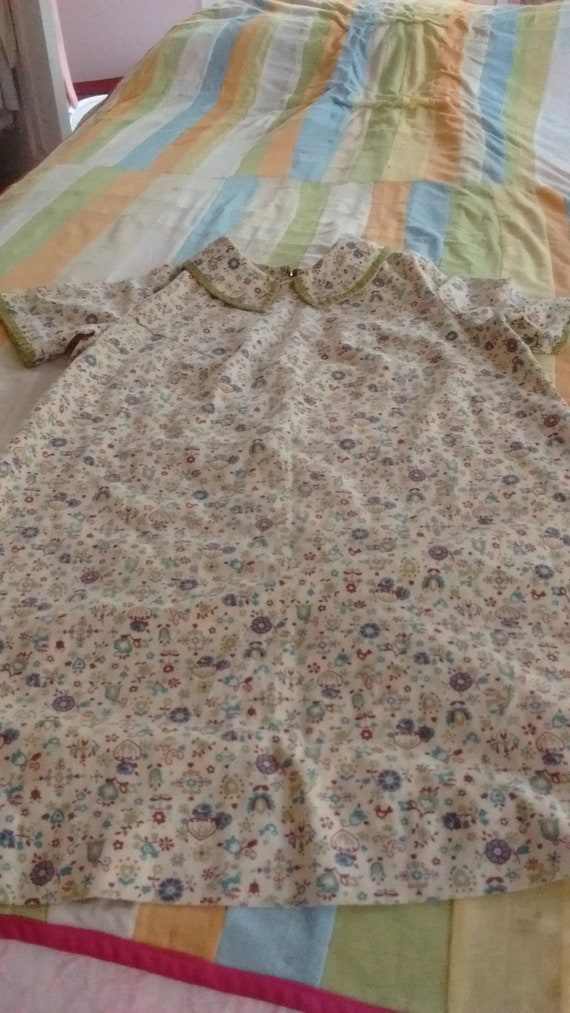 Antique Handmade 1940's Duster/House  Dress