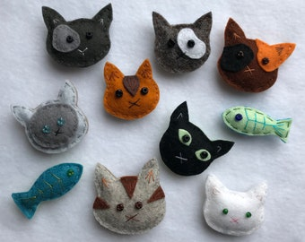 Kaboodle of Kittens,  Magnets, Kittehs, Refrigerator Friends.