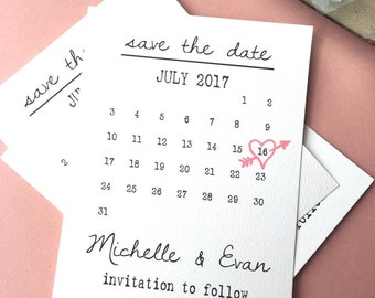 Printable Save The Dates Save The Date Template Wedding Save - Save the date calendar template