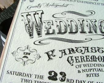 Carnival Wedding Invitations Etsy