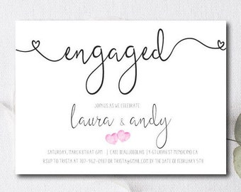 engagement party invite engagement party invitation couples shower invite save the date cards