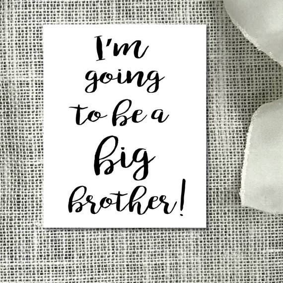 graphic about Printable Baby Announcement referred to as Being pregnant Announcement, Massive Brother Printable Card, Electronic Announcement, Printable Child Announcement, Prompt Obtain