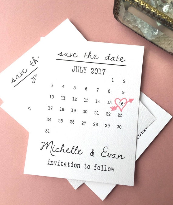 save the date calendar template save the date printable save etsy