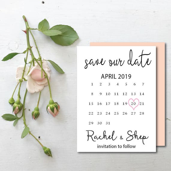 Printable Save The Dates Save The Date Template Wedding Save Etsy