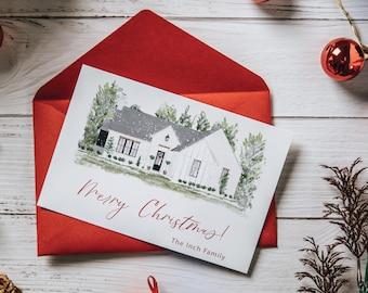 Custom Watercolor Christmas Cards