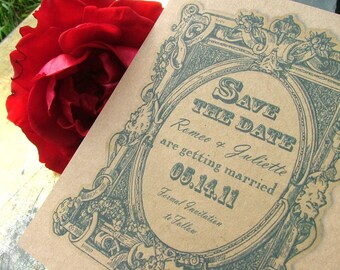 Save the dates vintage french label inspired