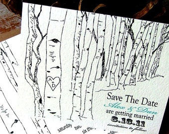 Aspen Tree Save the Date Card