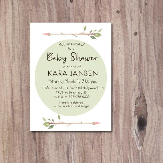 Arrow baby shower invitation bohemian baby shower invite etsy image 0 filmwisefo