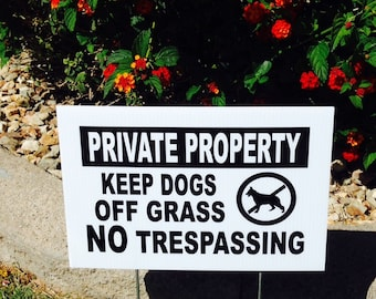 how to keep dogs off lawn